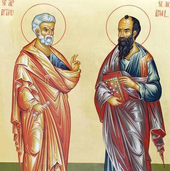 Biserica ortodoxă îi sărbătoreşte astăzi, 29 iunie pe Sfinţii Apostoli Petru şi Pavel