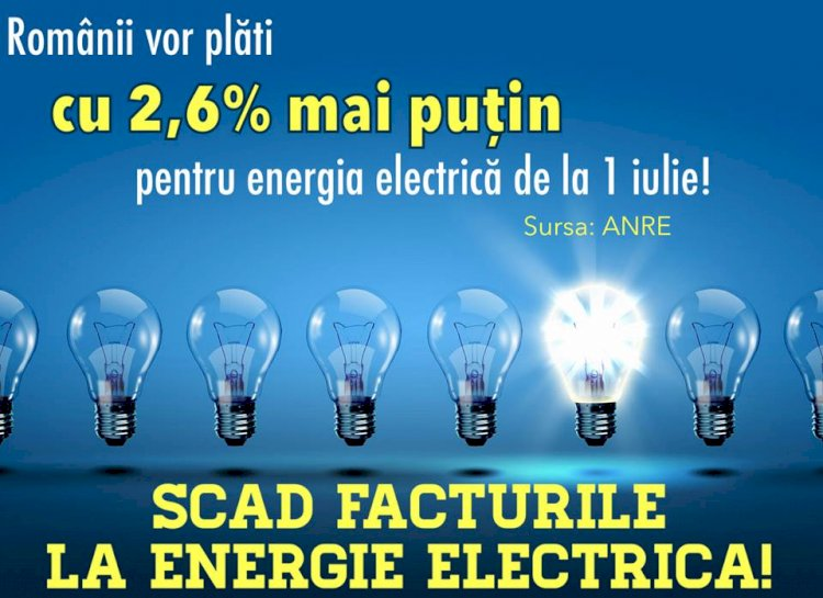 Facturi mai mici la curentul electric