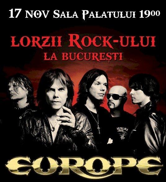 Trupa rock Europe concertează în noiembrie la București