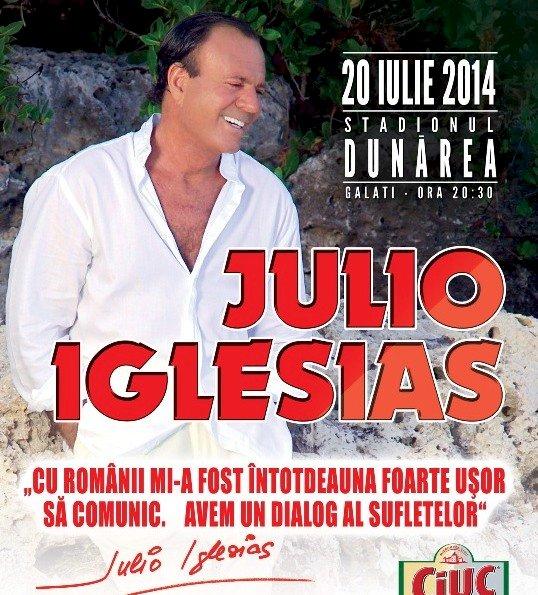 Concertul lui Julio Iglesias de la Galați își schimbă locația