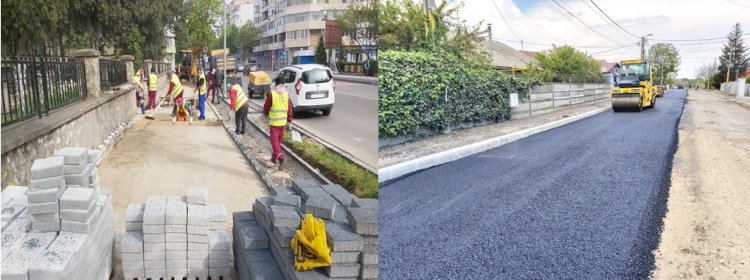 Trasee pietonale recondiționate, străzi asfaltate și noi locuri de parcare pentru constănțeni