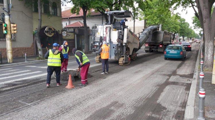 Atenție, șoferi! Au început lucrările de frezare pe strada I.G. Duca