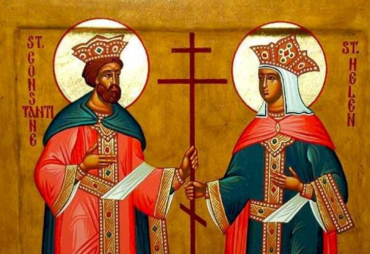 Ortodocșii și catolicii îi serbează pe 21 mai pe Sfinții Împărați Constantin și Elena
