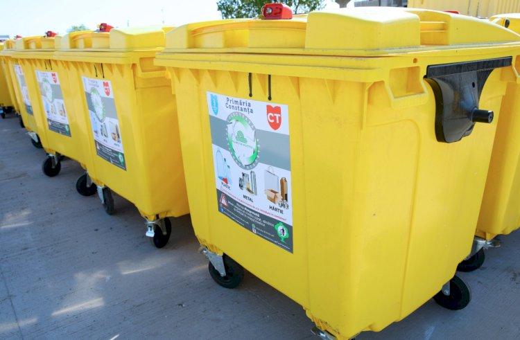 Sute de containere destinate deşeurilor vor fi montate la platformele din Constanţa