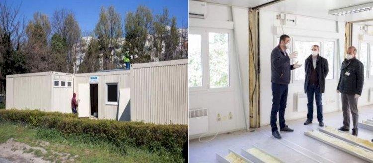 Containere modulare sanitare pentru triajul epidemiologic puse în folosință în curtea Spitalului Județean Constanța