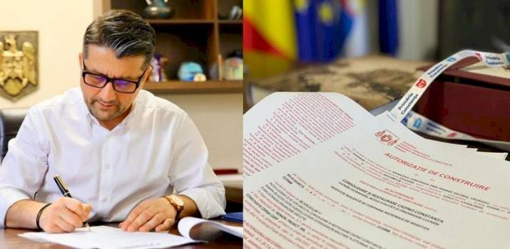 Primarul Decebal Făgădău, a semnat autorizația pentru lucrările de reabilitare a Cazinoului