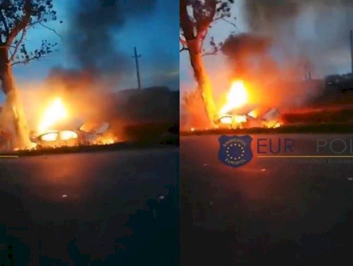Doi polițiști aflați la datorie au murit arși în mașină, după un cumplit accident în Șuțești