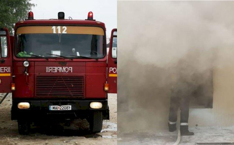 Foto: Incendiu la subsolul unui hotel din Mamaia Nord. Personalul s-a autoevacuat