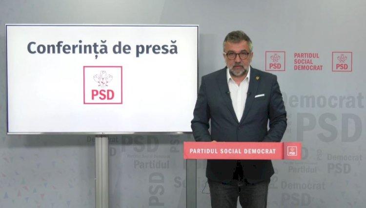 Romașcanu: Astăzi avem două aniversări triste. PSD va iniția o moțiune împotriva lui Nelu Tătaru