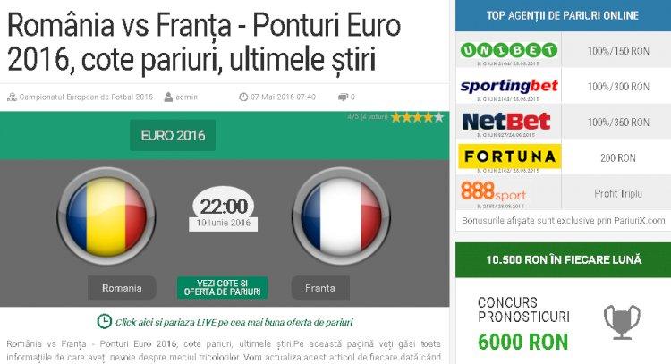 Pariurix EURO 2016