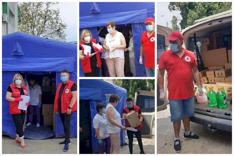 Crucea Roșie Constanța a donat Spitalului Clinic de Boli Infecțioase Constanța, echipamente sanitare și produse de igienă