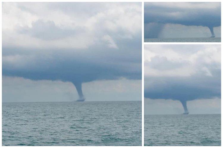 O tornadă a fost fotografiată în Delta Dunării