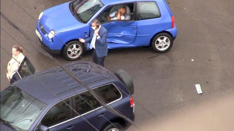 Prefectul George Niculescu implicat într-un accident rutier, în drum spre Lumina