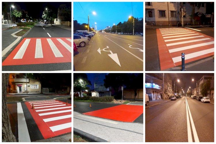 Se reface infrastructura de semnalizare rutieră pe arterele reabilitate din oraș