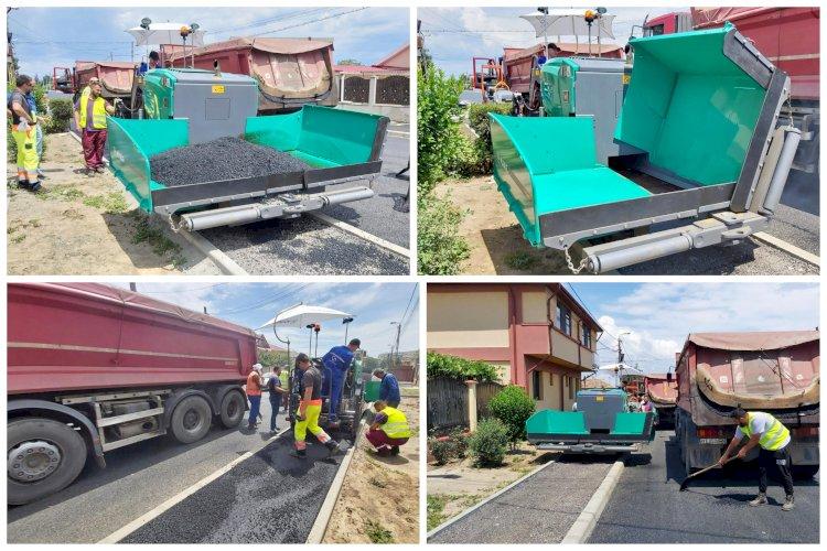 Utilaj performant folosit pentru modernizarea trotuarelor și aleilor din orașul Constanța