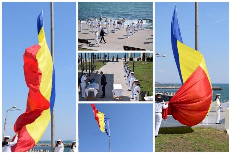 Sărbătoare importantă în România! Ziua Drapelului Național marcată de marinarii militari