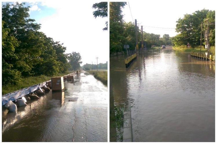 Sectoare ale DN 24C și DN 29A închise circulației rutiere din cauza revărsării apelor râului Prut