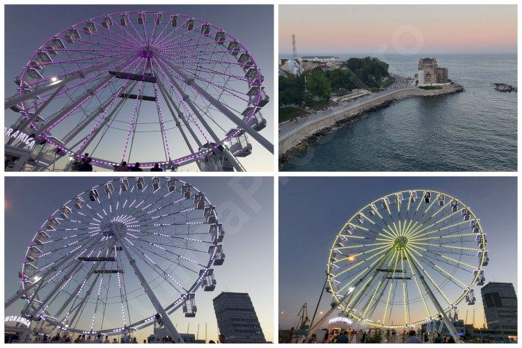 Noua atracţie a litoralului românesc, roata panoramică Tomis Eye a fost inaugurată