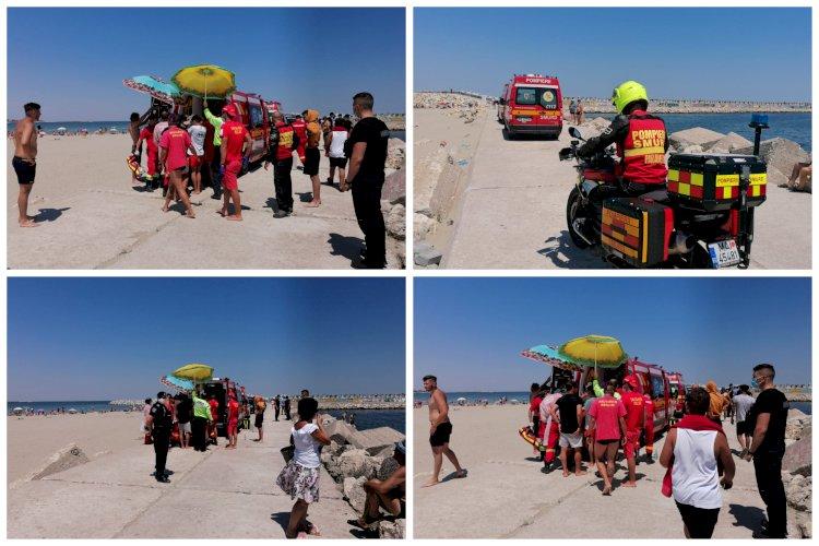 Persoană salvată de la înec pe plaja Modern din Constanța