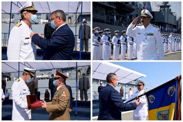 Ceremonia de schimbare a conducerii Forțelor Navale. Viceamiralul Alexandru Mîrșu a trecut în rezervă