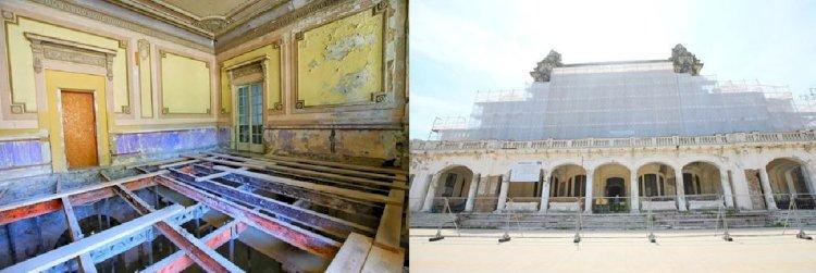 Grinzile făcute de Saligny la Cazinoul din Constanța, în stare bună și după 100 de ani