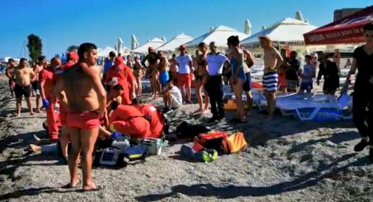 Persoana scoasă din mare de salvamari în Eforie Nord, a decedat