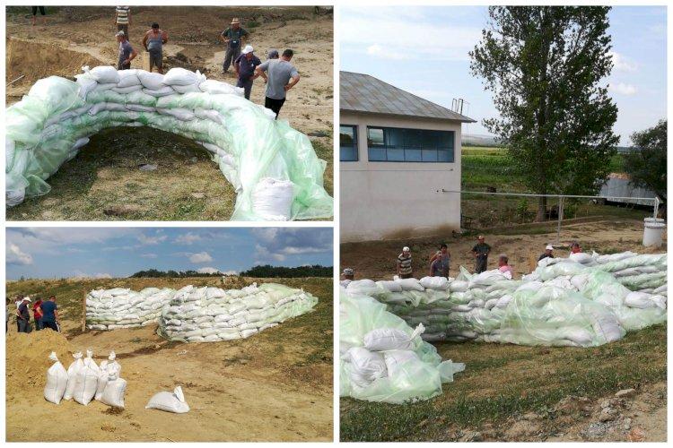 Intervenție de urgență la digul de apărare de pe râul Prut din Vaslui