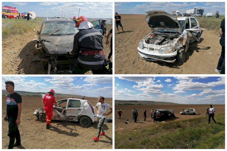 Accident rutier grav în Palazu Mic. Trei adulți și un bebeluș au fost răniți