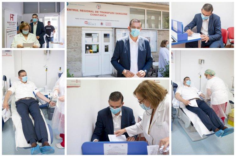 Horia Țuțuianu: Îi îndemn pe toți liderii politici și pe toți consilierii județeni să doneze sânge
