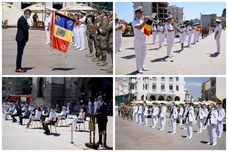 Foto: Ziua Imnului Naţional a fost marcată la Constanţa printr-un ceremonial militar