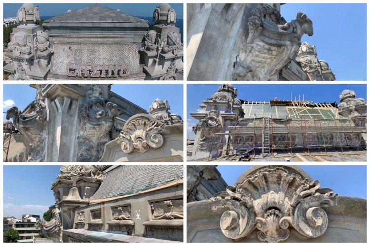 Incursiune pe acoperișul Cazinoului din Constanța, aflat în plin proces de restaurare