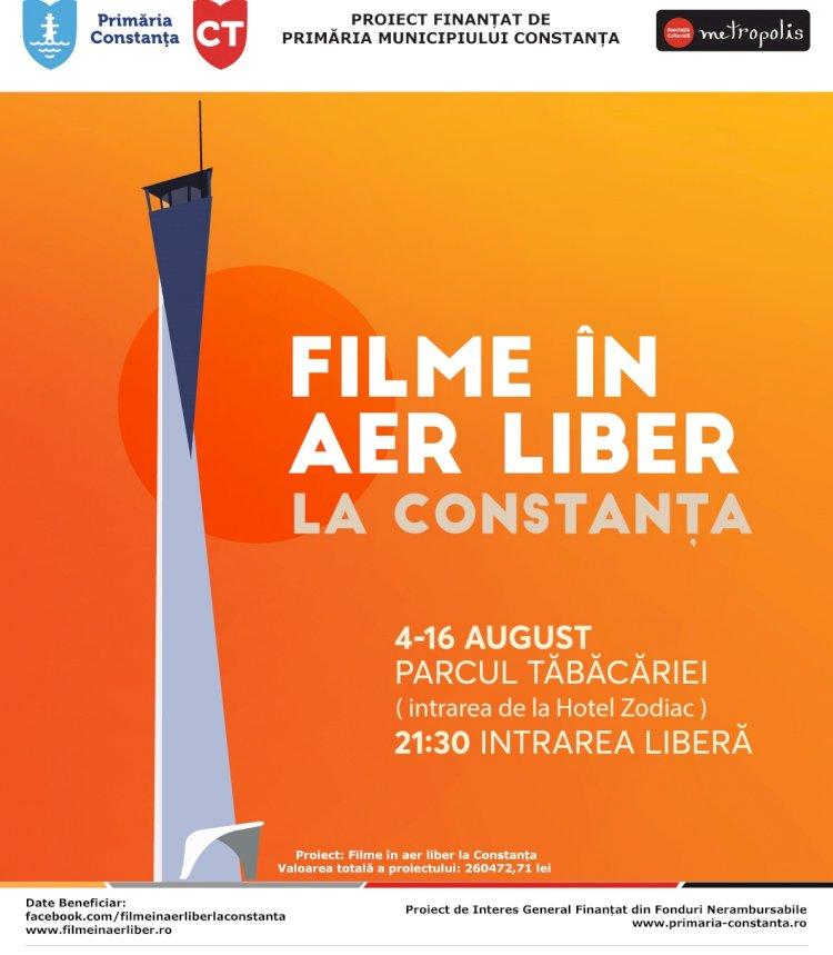 Pregătiți-vă pentru un nou sezon de cinema în aer liber! Filme în aer liber revine la Constanța