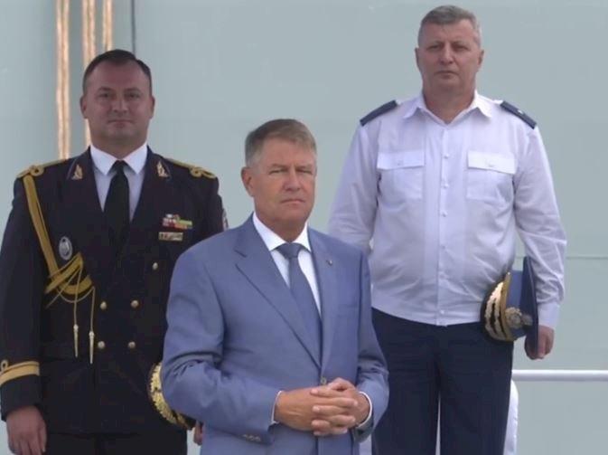 Iohannis: Forţele Navale sunt parte importantă a Armatei, acţionează pentru ca mările şi oceanele să fie mai sigure