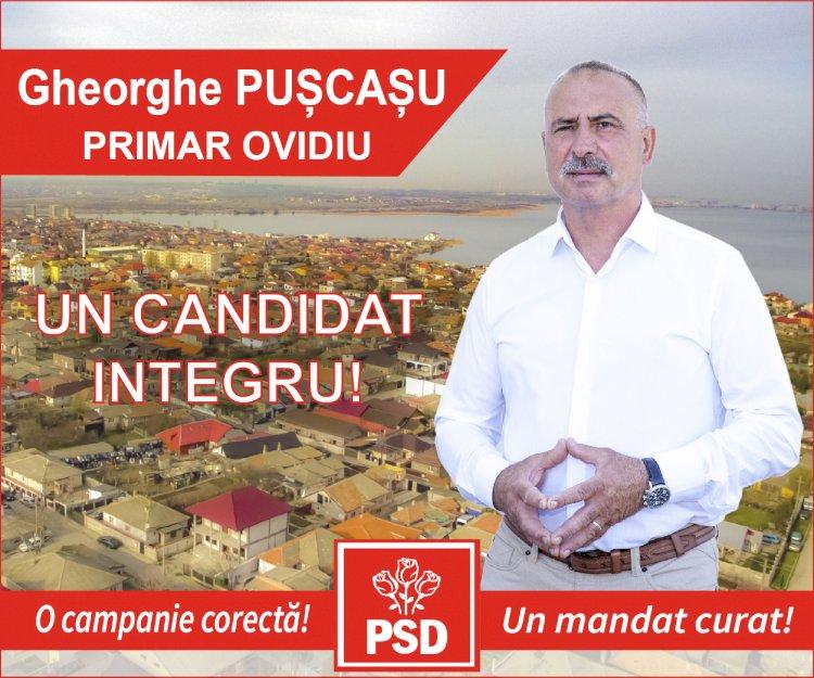 Gheorghe PUȘCAȘU: Candidat  la Primăria orașului OVIDIU