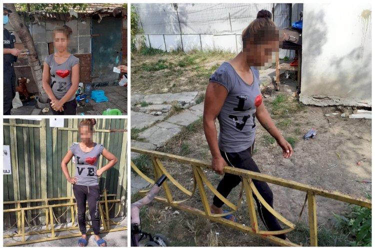 Doi tineri din Constanța au furat gardul de la locul de joacă
