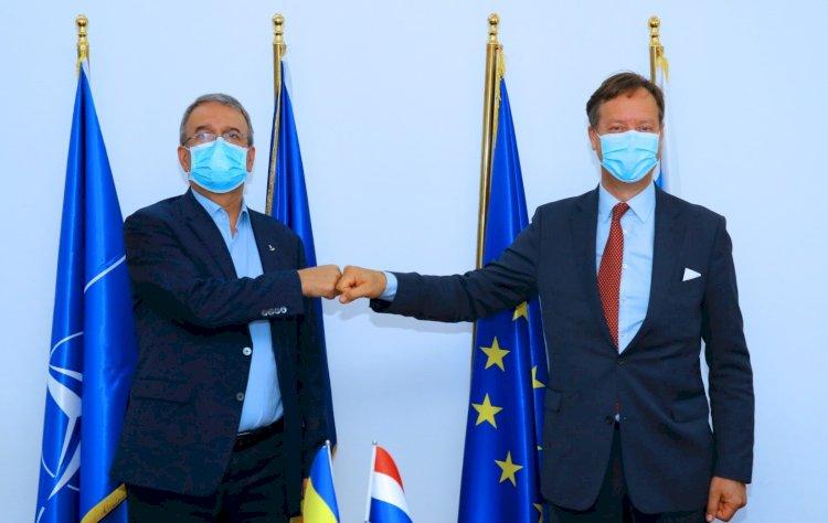 Primarul Vergil Chițac a primit vizita ambasadorului Regatului Țărilor de Jos în România