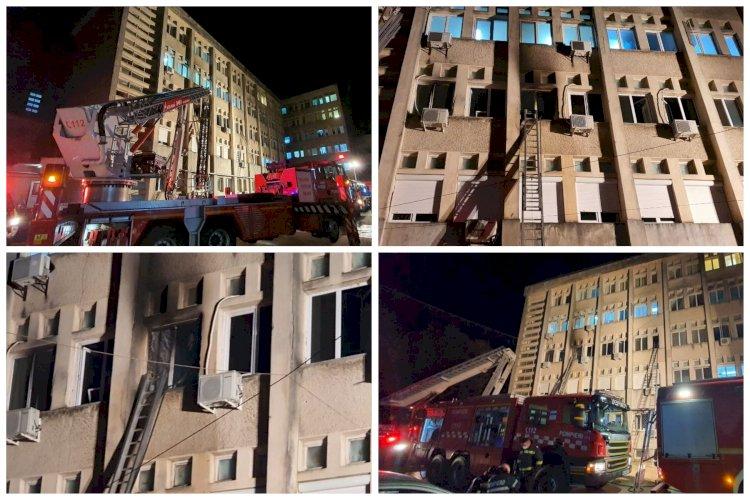 Incendiu la Secția ATI din Piatra-Neamț. Opt pacienți au decedat. Erau bolnavi de COVID-19 și intubați