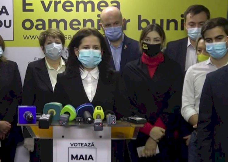 Maia Sandu a câştigat alegerile din Republica Moldova
