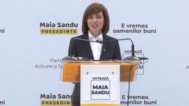 Prima reacție a Maiei Sandu după închiderea urnelor: Știu că în următoare orele se vor pune presiuni pentru fraude