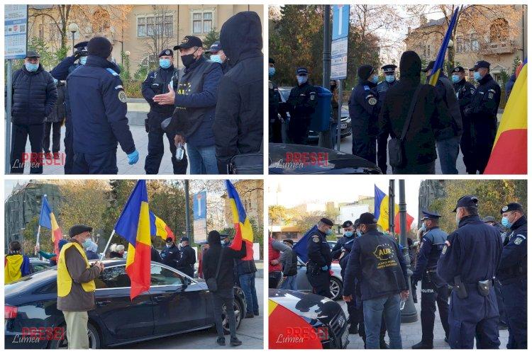 Manifestație spontană în fața Judecătoriei Constanța, sancționată de polițiștii constănțeni