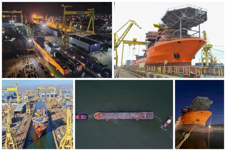 Cinci nave au fost lansate la apă la Șantierul Naval Damen Mangalia
