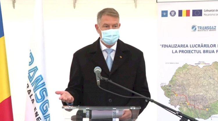 Iohannis: Felicit compania Transgaz pentru finalizarea primei faze a celui mai ambiţios proiect din domeniul energiei