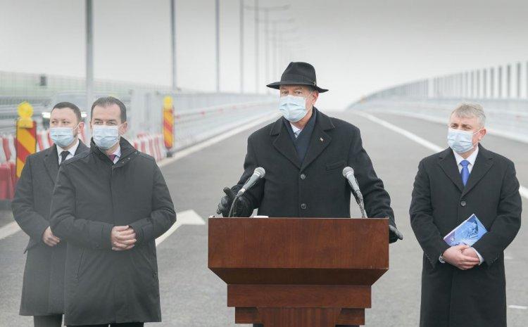 Iohannis, la deschiderea tronsonului A7: Aici se vede foarte clar ce a însemnat o guvernare pesedistă inutilă