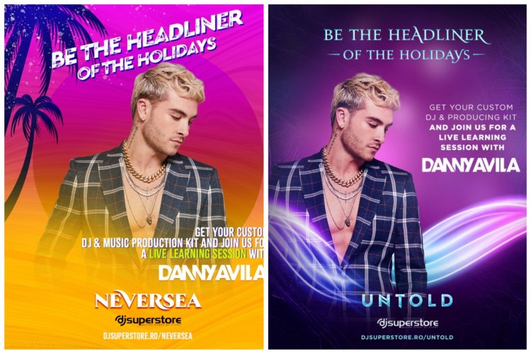Fanii festivalurilor Neversea și Untold au șansa să ajungă DJ îndrumați de Danny Avila