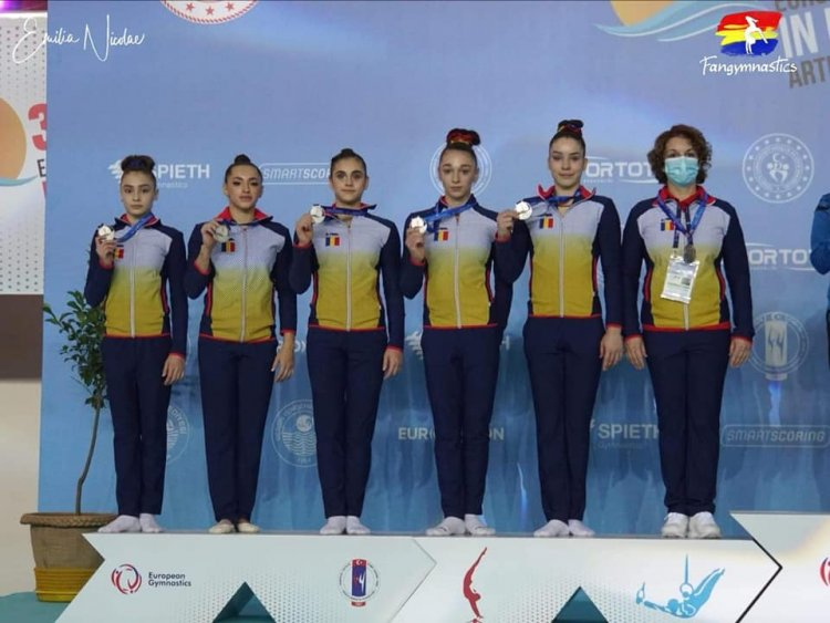 Argint pentru echipa României la Campionatele Europene de gimnastică artistică