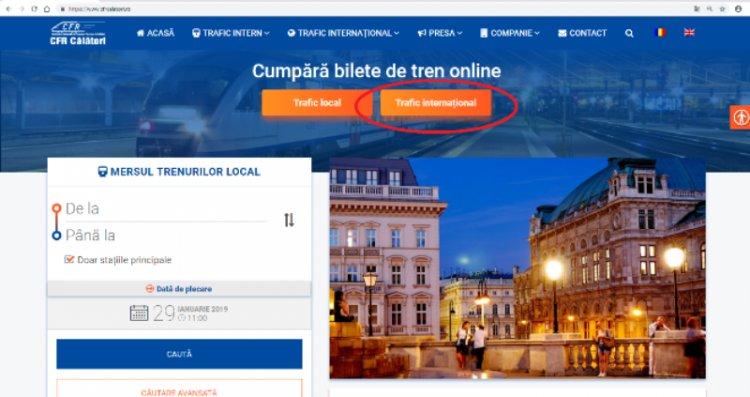 Biletele de tren în trafic internațional pot fi cumpărate ONLINE