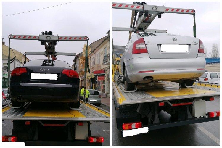 Mașinile parcate neregulamentar, ridicate de polițiștii locali constănțeni