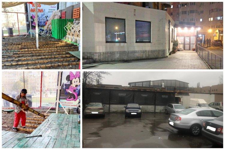 Proprietarii teraselor amenajate abuziv au început demolarea