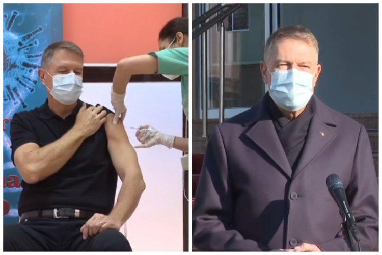 Iohannis, după ce s-a vaccinat anti-COVID-19: Vaccinarea și restricțiile, soluția pentru ieșirea din pandemie