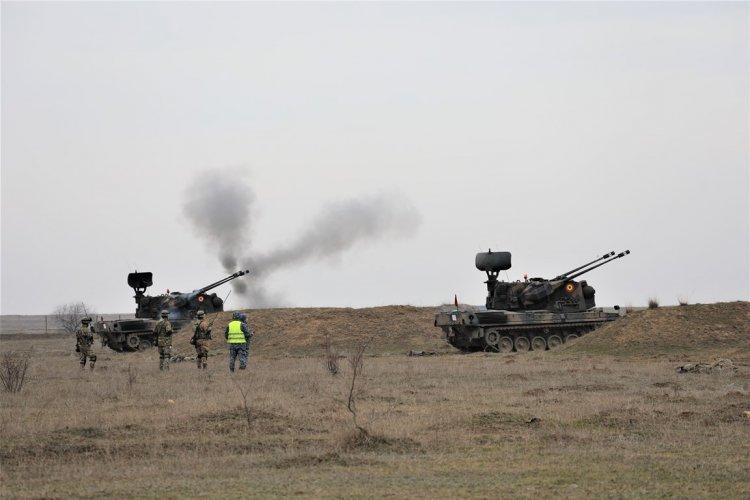 Militarii Batalionului 288 Apărare MILCOV din Focșani care pleacă în misiune în Polonia, au tras la Capu Midia